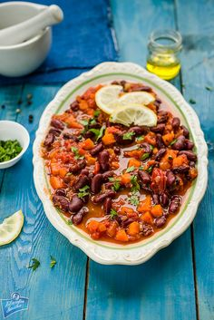 Potrawka z czerwonej fasoli po turecku Chana Masala, Bento, Vegetable Pizza, Chili, Soup, Snacks, Vegetables, Cooking, Ethnic Recipes