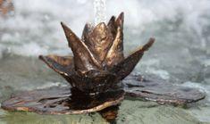 Water Lily Brass Spitter by Roxanne Skene