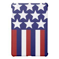 Patriotic Stars Stripes Freedom Flag 4th of July iPad Mini Cover