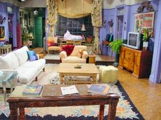 """Always loved the """"Friends"""" apartment -- especially the purple walls Decoration Inspiration, Interior Inspiration, Room Inspiration, Decor Ideas, Decorating Ideas, Monicas Apartment, Friends Apartment, Dream Apartment, York Apartment"""