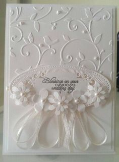 54 Super Ideas Wedding Card Floral Embossing FolderYou can find Wedding cards and more on our Super Ideas Wedding Card Floral Embossing Folder Wedding Cards Handmade, Greeting Cards Handmade, Love Cards, Diy Cards, Wedding Shower Cards, Card Wedding, Wedding Favors, Wedding Venues, Wedding Rings