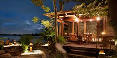 Dining at Jicro at night - you feel you have the island to yourself