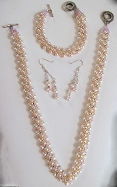 """Pearl Montee Embellished Jewelry Set """"Pure Elegance""""http://www.ebay.com/itm/Pearl-Montee-Embellished-Jewelry-Set-Pure-Elegance-/301090441379?pt=Handcrafted_Artisan_Jewelry&hash=item461a6388a3"""