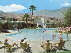 palm springs pool vintage