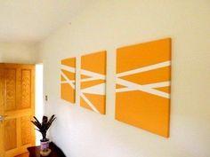 32 Ideas geometric art diy canvas masking tape for 2019 Easy Abstract Art, Easy Canvas Art, Diy Canvas, Canvas Wall Art, Art Encadrée, Art Mural, Diy Wand, Tape Painting, Diy Painting