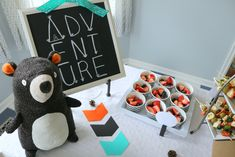 Wild ONE [Woodland] Birthday — Moments with Miss Chocolate Dipped Marshmallows, Marshmallow Dip, Cupcake Smash Cakes, Cupcake Toppers, Boys 1st Birthday Party Ideas, Boy Birthday, Dont Feed The Bears, Orange Color Schemes, Fruit Cups