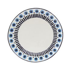 Folklore Dinnerware Translated as 'from the earth', Da Terra are renowned for producing ceramic dinnerware full of vibrant colour and pattern. Each piece in the Folklore range of dinnerware is individually handmade and painted in Portugal with a subtl Modern Dinnerware, Contemporary Classic, Canvas Home, Dinner Sets, Plates And Bowls, Kitchen Accessories, Folklore, Dinner Plates, Porcelain