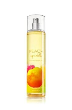 Bath & Body Works Peach Sparkle Fine Fragrance Mist 8oz / 236 mL by Bath & Body Works. $12.95. Peach Sparkle scent. from Bath and Body Works. 8 fl oz/236mL. Bath & Body Works Peach Sparkle Fine Fragrance Mist 8 fl oz / 236 mL  Sweeten up summer with the juicy scent of Peach Sparkle! Apply mist to lightly scent your skin with a flirty fusion of peach, sparkling tangerine and pineapple!