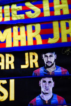 FC Barcelona are seen at a souvenir stall outside the stadium ahead of the UEFA Champions League Group E match between FC Barcelona and FC BATE Borisov at the Camp Nou on November 4, 2015 in Barcelona, Catalonia.