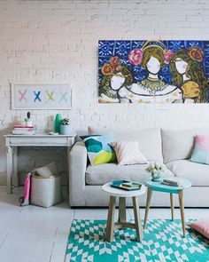 Imagine having this living room?? This painting adds an extra star to it! find it at wwwkatrynbeaty.com