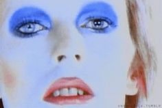 Find GIFs with the latest and newest hashtags! Search, discover and share your favorite David Bowie GIFs. The best GIFs are on GIPHY. Mars Makeup, Eye Makeup, David Bowie Eyes, Bowie Life On Mars, Ziggy Played Guitar, Mick Ronson, The Thin White Duke, Major Tom, Ziggy Stardust