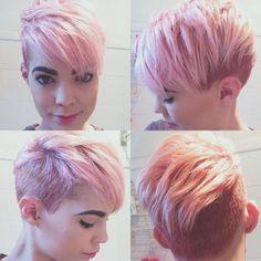 Pink undercut