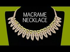 DIY: Macrame Necklace - Petal Chain with Beads - YouTube