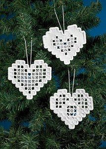 Permin Kit - Heart Hardanger Ornaments – Stoney Creek Online Store