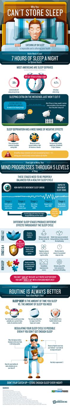 Why You Can't Store Sleep #Infographic #Health #Sleep