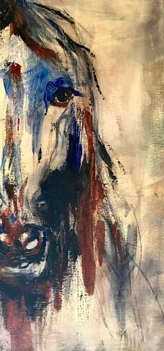 Original acrylic horse paintings by April Moffatt make stunning wall art for horse lovers. Her available art includes this painting of a horse head, painted in loose brushstrokes and abstract lines. Click the pin to see a more detailed description and pur Animal Paintings, Horse Paintings, Pastel Paintings, Oil Paintings, Original Paintings, Horse Drawings, Art Drawings, Horse Art, Horse Head