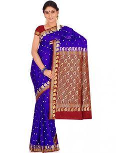 Engrossing Sangeet Saree Item code : SBC23A  http://www.bharatplaza.com/womens-wear/sarees/silk-sarees/engrossing-sangeet-saree-sbc23a.html