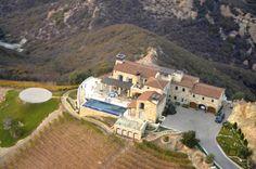 Flying into Malibu Rocky Oaks Estate & Vineyard