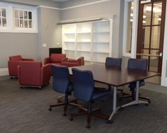 Nashville Public Library (Nashville, TN) Mix-it task/work seating with WaveWorks tables and Swift lounge seating in collaborative/open space. #NationalOffice #FurnitureWithPersonality