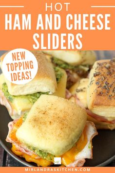 Football parties, winter gatherings, easy dinners in a rush that make everybody in the family happy – it is definitely time for some Hot Ham and Cheese sliders. These come together in a flash and have lots of customizable options satisfy anybody. Nobody will leave hungry after a pan of these come out of the oven! #sandwich #comfortfood #easy #familyfood Easy Chicken Recipes, Pasta Recipes, Hot Ham Sandwiches, One Pot Meals, Easy Meals, Easy Diner, Healthy Dinner Options, Football Parties, Easy Party Food