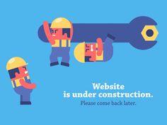 Animated Error page. Page 404 animation. Motion Graphics, Vector Graphics, Vector Animation, Gifs, App Design, Flat Design, Visual Communication, Under Construction, Emoticon