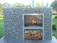 ideas about Gabion Wall on Pergola Canopy, Pergola Swing, Backyard Pergola, Fire Pit Backyard, Backyard Landscaping, Gabion Wall Design, Patio Design, Garden Design, Garden Bbq Ideas
