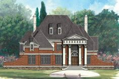 Classical Style House Plan Exterior - Front Elevation Plan #119-230