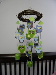 so cute for an owl baby room. I love owls. So chances are the baby will too lol.