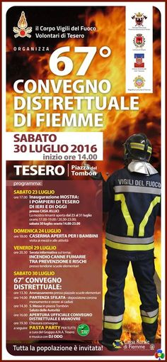Tesero, 67° Convegno Distrettuale Vigili del Fuoco
