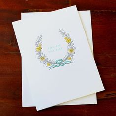 You Are The Best Card | Sesame Letterpress Store