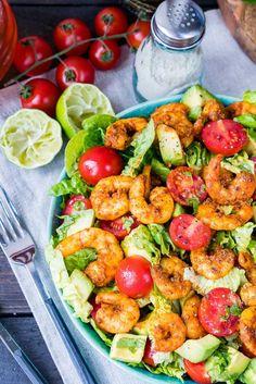 Shrimp + Avocado Taco Salad – Try this Immediately! | Clean Food Crush