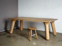 Stoere houten eettafel - Big Foot