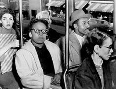 Anti-Segregationists Integrate Bus, 1956.