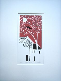 """""""Home Birds"""" - Limited Edition Linocut"""