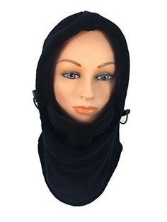 Novasport Womens Balaclava Hooded Face Mask Fleece Black -- More info could  be found at d69c6cbd88b0