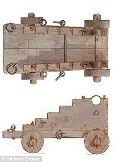 HMS London 1665-Una inmersión de los restos periodo Stuart, que se encuentra a dos millas de Southend-on-Sea, Essex, se llevará a cabo la próxima semana con el objetivo de recuperar una cureña de madera (ilustrado)