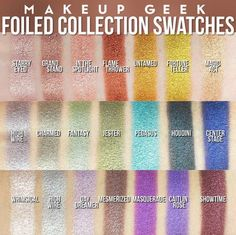 Can we please talk about the new @MakeupGeek Foiled Shadows?! I am in metallic heaven!!!!