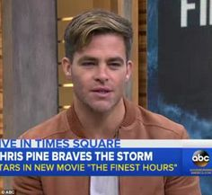 Making appearances: He discussed upcoming flick The Finest Hours on the ABC morning show