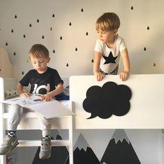Two favourites wallstickers: behind the bed - mountains and raindrops :) dekornik.pl on @boginieprzymaszynie