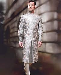sherwani design has given way to a more stylish cut and embroidered sherwani. Accompanied with a pagri (turban), juttis and a stole