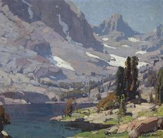 "EDGAR PAYNE   Sierra Lake     Oil on Canvas     25"" x 30"""