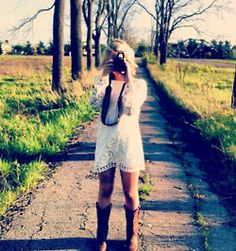 """long sleeve white lace dress! this is the only way ill break """"the white rule"""""""
