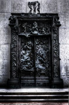 The Gates of Hell, Musée Rodin, Paris. Also in the Rodin Museum, Philadelphia, at 22d and the Benjamin Franklin Parkway. Woah