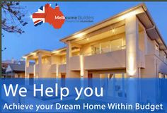 Need your dream home within your specified budget? Visit or contact that will match any quotes for you. Melbourne House, Visit Website, Home Builders, Be Yourself Quotes, Custom Homes, Dreaming Of You, Budgeting, Pergola, Outdoor Structures