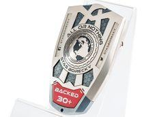 BACKERBADGE | Multifunctional Badge Specially For Kickstarter Backers #backerbadge #kickstarter #crowdfunding #backers #badge #beer #keychain #fridgemagnet #bottleopener #metal #design #personnalise