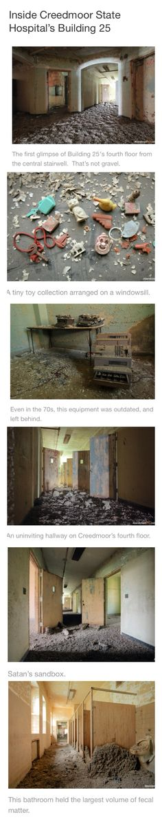 Inside Creedmoor Psychiatric Center in Queens, New York - Abandoned Old Abandoned Buildings, Abandoned Asylums, Old Buildings, Abandoned Places, Abandoned Hospital, Haunted Places, Urban Exploration, Ghost Towns, Old Houses