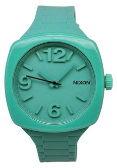 Price:$88.60 #watches Nixon A265-314, Polycarbonate case, Silicone strap, Teal dial, Quartz movement, Scratch-resistant mineral, Water resistant up to 5 ATM - 50 Meters - 165 Feet