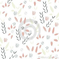 Seamless abstract leaf pattern, suitable for various products.