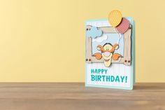 Disney Happy Birthday Tigger card. Make It Now with the Cricut Explore machine in Cricut Design Space.