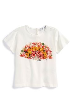 Dolce&Gabbana Silk Front Tee (Baby Girls) available at #Nordstrom